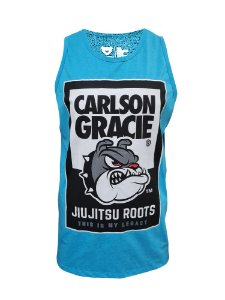 Regata Carlson Gracie Jiu Jitsu - Azul Claro Mescla