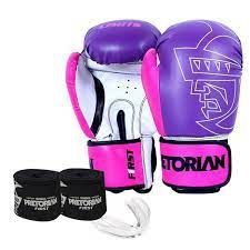 Kit Luva Boxe First + Bandagem + Protetor Bucal Pretorian