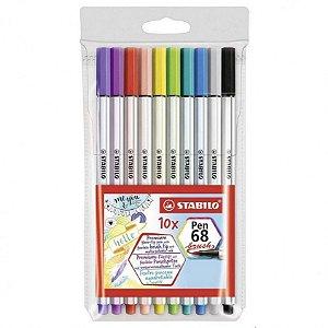 Kit Brush Pen 68 STABILO c/10