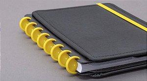 Discos + Elástico Amarelo M para CADERNO INTELIGENTE