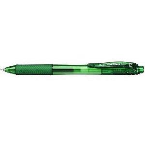 Caneta Energel X Retrátil Verde 0.5 PENTEL