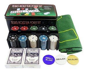 Jogo de Poker 200 peças MONE