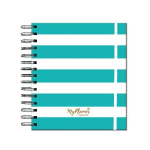 My Planner Permanente Stripes - Turquesa EVERTOP