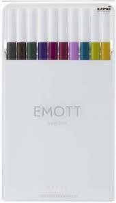 Kit Caneta Emott Hidrográfica 0.4 UNIBALL Nº3 10 cores