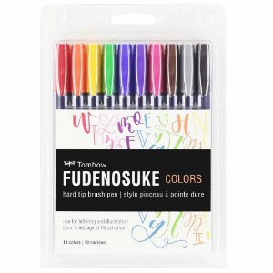 Estojo Canetas Fudenosuke Colors C/10 - TOMBOW