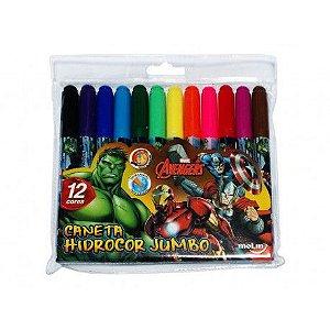 Cnaeta Hidrocor Jumbo Avengers 12 Cores MOLIN