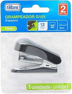 Mini Grampeador 12fls Preto TILIBRA