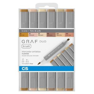 KIt Cis Graf Duo Brush c/6 Tons de Pele