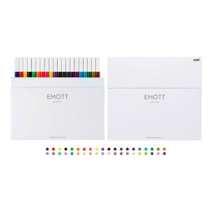Kit Caneta Emott Hidrográfica 0.4 UNIBALL 40 cores