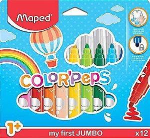 Kit Caneta MAPED Hidrográfica Color Peps Jumbo c/12