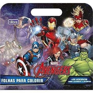 Maleta de Folhas para Colorir Avengers TILIBRA