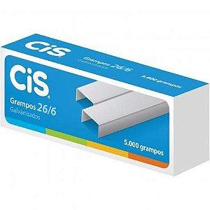 Grampos Galvanizados 26/6 CIS 5.000und