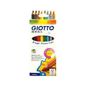 Lápis de cor Mega GIOTTO 8 cores