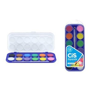 Estojo Aquarela CIS 12 cores
