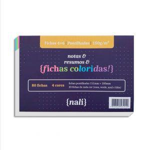Fichas Pontilhadas Coloridas 4x6 150g NALÍ