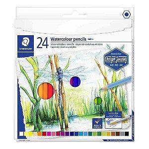 Lápis de cor STAEDTLER Aquarelável c/24