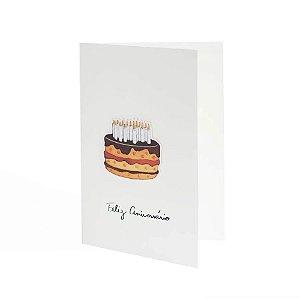 Cartão Enjoy Bolo Feliz Aniversário TECA