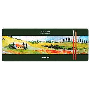 Estojo Lápis de Cor COMPACTOR Art-Color Aquarelável 48 Cores
