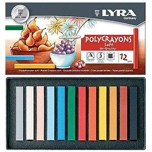 Giz LYRA Polycrayon Pastel Seco 12 Cores