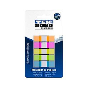 Marcador de Página Plástico TEK BOND 5 Cores