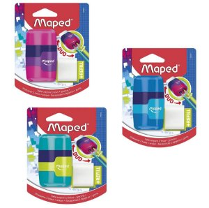 Apontador com Borracha MAPED Connect Multicolorido