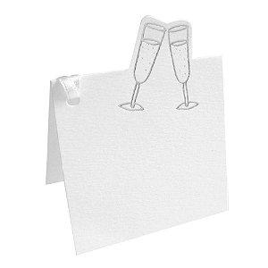 Cartão De/Para TECA Champagne Branco