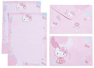 Papel de Carta Hello Kitty Sakura - TECA