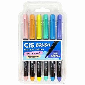 Kit CIS Brush c/6 cores Tons Pastel