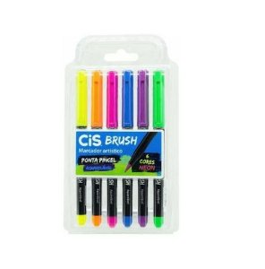 Kit CIS Brush c/6 cores Neon