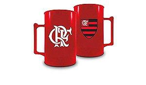 Caneca Acrílica Vermelha do Flamengo BRASFOOT
