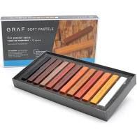 Giz Pastel Seco c/12 cores CIS Tons de Marrom