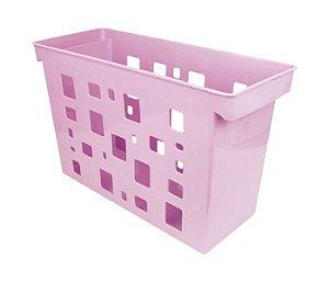 Caixa Arquivo Multiuso Rosa Pastel s/ Pasta Suspensa DELLO