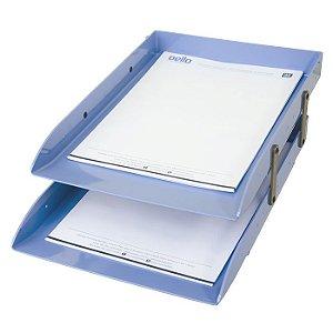 Caixa Correspondência Articulável Dupla Azul Claro DELLO
