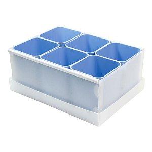 Caixa Organizadora de Objetos c/6 Azul Claro DELLO