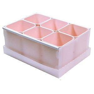 Caixa Organizadora de Objetos c/6 Rosa DELLO
