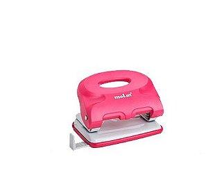 Perfurador MOLIN New Style Rosa 2 Furos 10fls