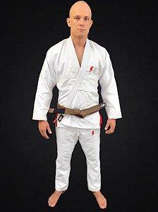 Kimonos Jiu Jitsu trançado - Red BJJ - branco