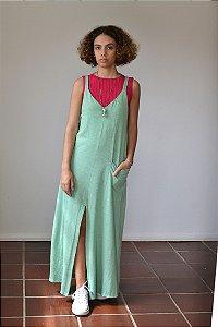 Vestido de malha com bolso na lateral