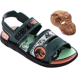 Sandálias Jurassic Park Preto/verde/laranja