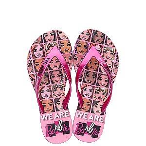 Chinelos Barbie Rosa/rosa Metalizado