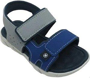 Sandálias Molekinho Cinza/azul