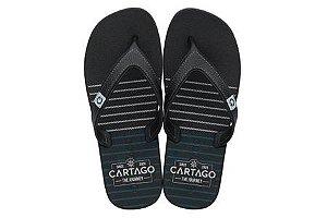 Chinelos Cartago Preto/preto/cinza