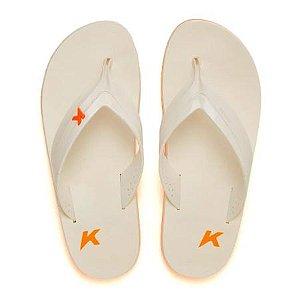 Chinelos Kenner 04-laranja/bco/bco