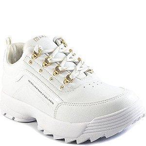 Tênis Ramarim Branco/ouro