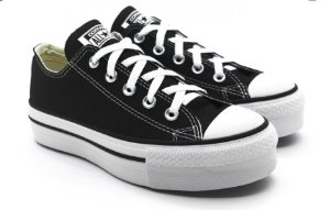TENIS CONVERSE ALL STAR CT04950001 PTO/PTO/BRANCO