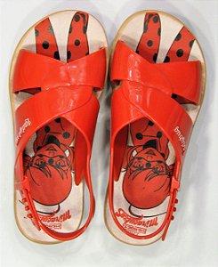 Sandálias Ladybug Trip Bag/21756 Marrom/vermelho