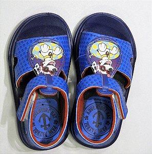 Sandálias Patrulha Canina Engrenagens/22007 Azul/azul/vermelho