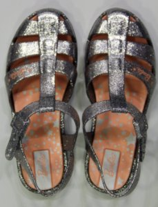 Sandálias Barbie Glitz/22111 Prata Glitter
