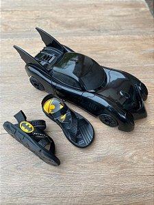 Sandálias Batman Batmovel 22169 Preto/preto/amarelo