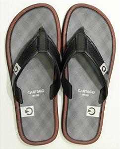 Chinelos Cartago Maiorca Ii/11022 Preto/cinza/bordo